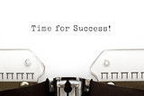Time For Success Typewriter
