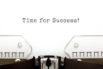 Time For Success Typewriter