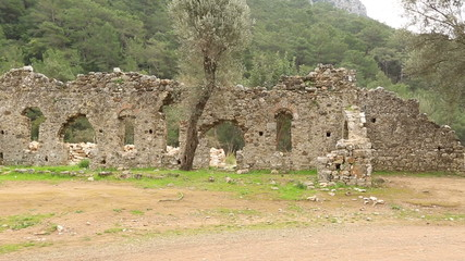 2nd century BC Ancient Olympos City at Turkey