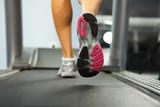 Fototapety Running on treadmill