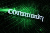 Community against green and black circuit board