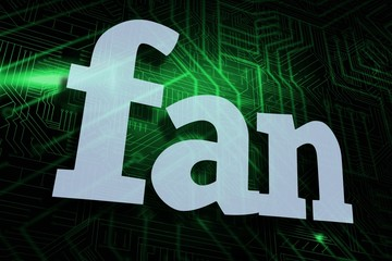 Fan against green and black circuit board