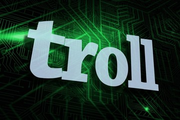 Troll against green and black circuit board