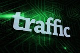 Traffic against green and black circuit board