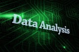 Data analysis against green and black circuit board