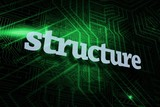 Structure against green and black circuit board