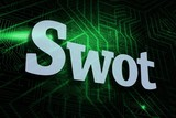 Swot against green and black circuit board