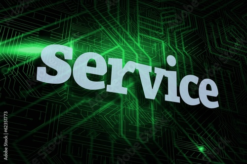 Service against green and black circuit board