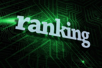 Ranking against green and black circuit board