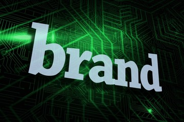 Brand against green and black circuit board