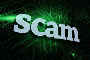 Scam against green and black circuit board