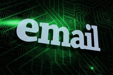 Email against green and black circuit board