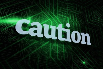 Caution against green and black circuit board