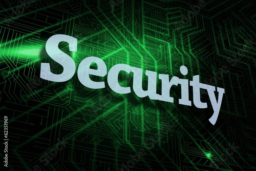 Security against green and black circuit board
