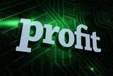 Profit against green and black circuit board