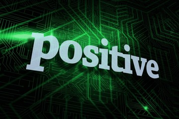 Positive against green and black circuit board
