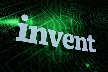 Invent against green and black circuit board