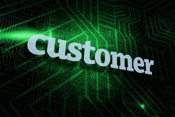 Customer against green and black circuit board