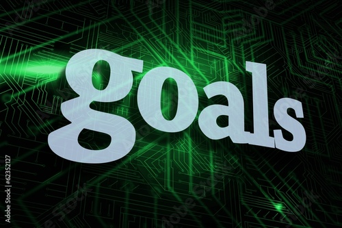 Goals against green and black circuit board
