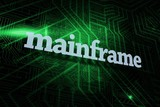 Mainframe against green and black circuit board