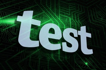 Test against green and black circuit board
