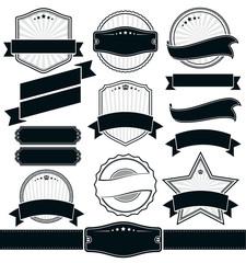 Retro Vintage Badge, Label and Banner Set