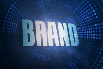 Brand against futuristic dotted blue and black background