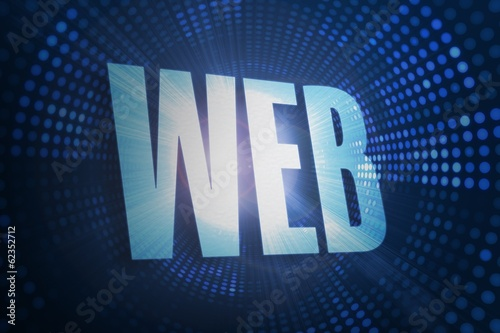 Web against futuristic dotted blue and black background