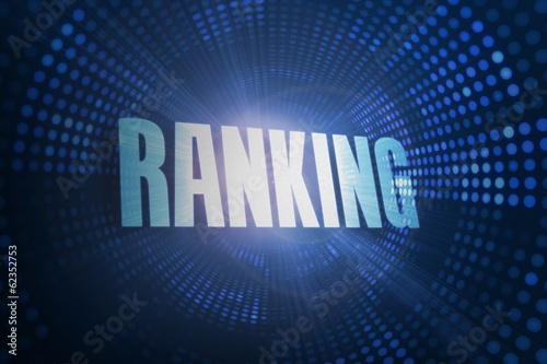 Ranking against futuristic dotted blue and black background