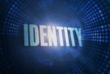 Identity against futuristic dotted blue and black background
