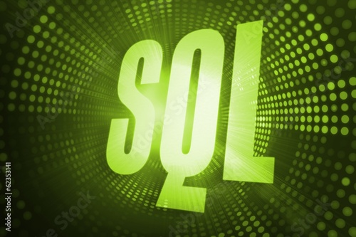 Sql against green pixel spiral