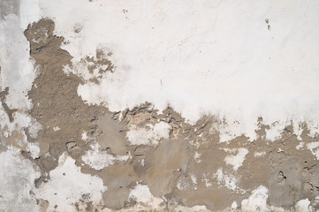 Peeling Aged White Wall