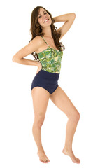 young female model posing in swimwear