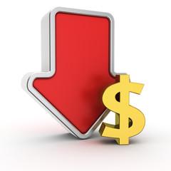 Fall of dollar rate