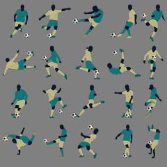 20 Soccer Silhouette