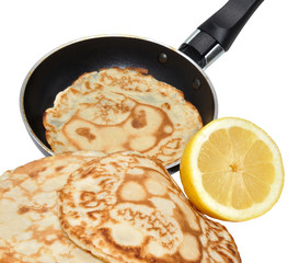 Fresh Pancakes And Frying Pan