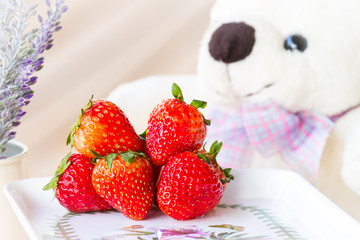 strawberry and bear