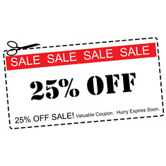 Twenty Five Percent Off Sale Coupon