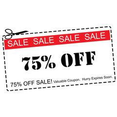Seventy Five Percent Off Sale Coupon