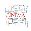 Cinema Word Cloud Concept
