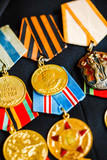 Anniversary medals of a victory in the Great Patriotic War on a