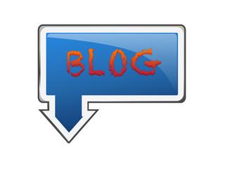 Letrero azul blog