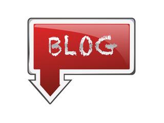 Letrero rojo blog