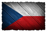 Czech republic flag on wooden tag