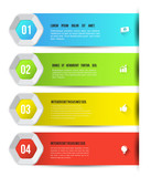 Hexagons options template for business concept template