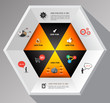 Hexagons template for business concept template
