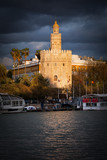 Torre del Oro in Seville at Sunset