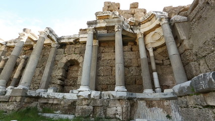 7th century BC Ancient Side City at Turkey