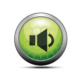Quietly sound icon green illustration vector