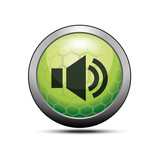 Loud sound icon green illustration vector